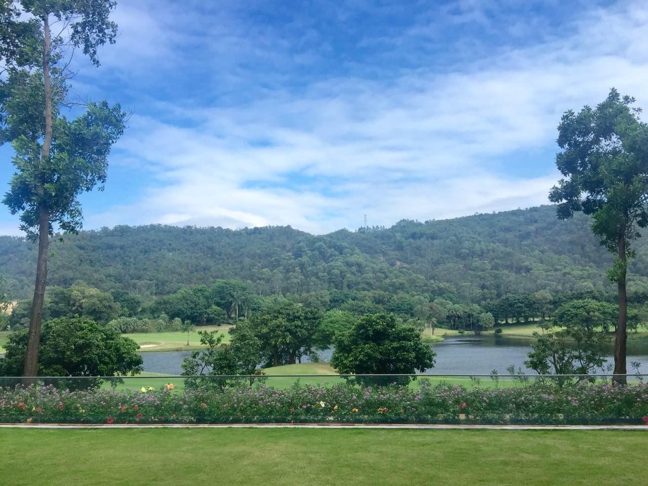 九龙湖5a度假区 无树遮挡高尔夫景  180度 湖景