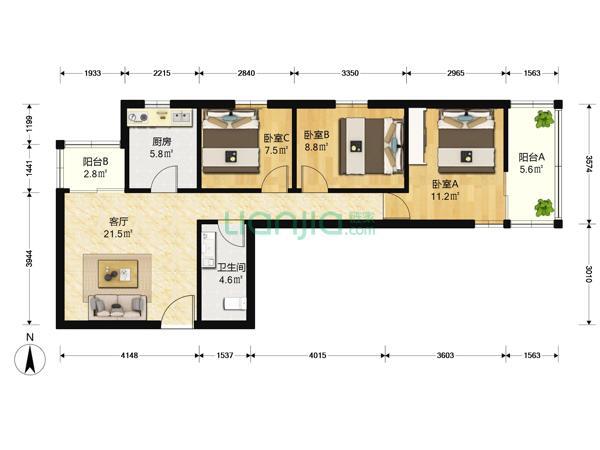 为你而选为你为家 华清嘉园正规三居室,中关村二小,五道口地铁