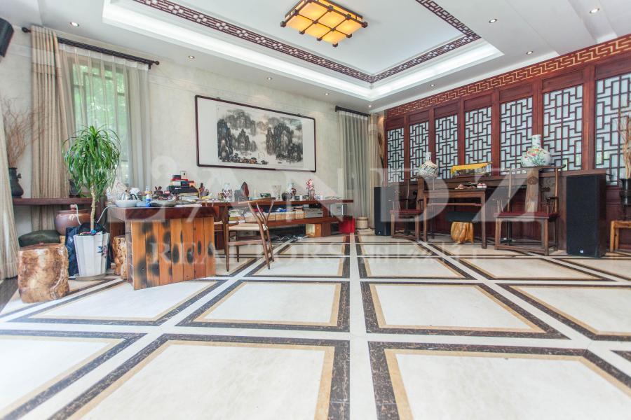 观唐一期独栋边户,精装,方正300平南庭院,主卧层高5.5m
