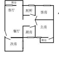 天河天河南六运七街小区 3室2厅1卫 97平米