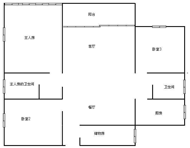 《裕丰地产真房源》中粮万科金域蓝湾超 3室