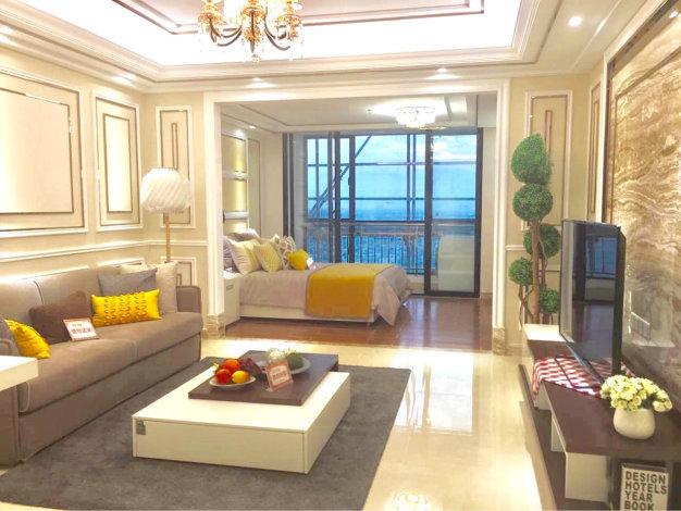 鼎旺 顺德陈村  负1楼+轻轨 住宅式公寓 9成实用