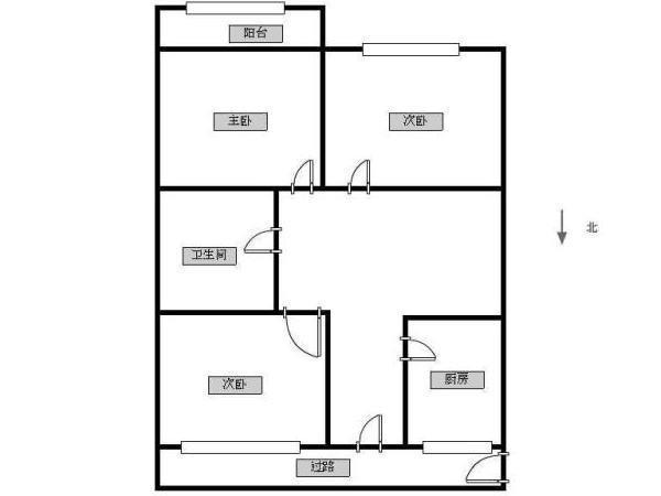 东直门 东中街三室一厅一卫 户型方正 高 诚意出售