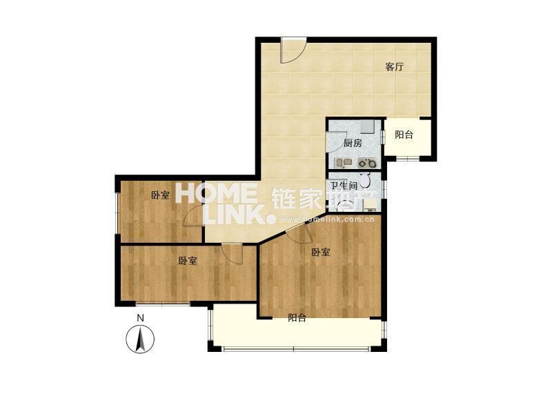 婚房正规三居室+ +东南朝向 角+全明格局