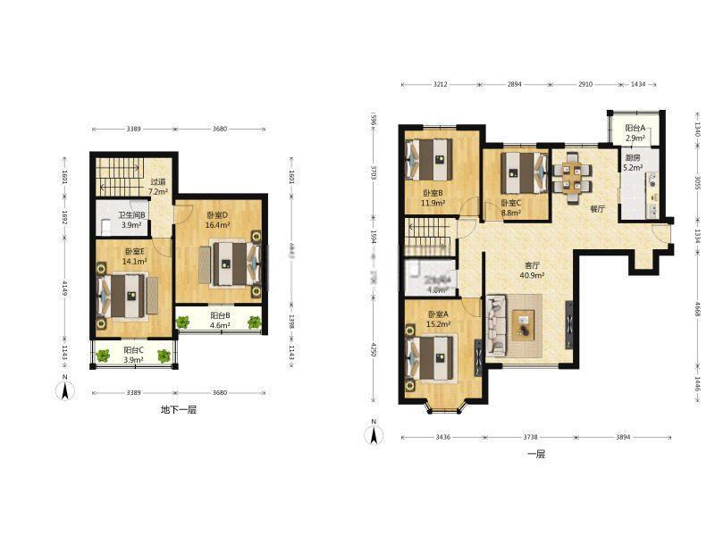 《收费1.2》马家堡 城南嘉园 3室2厅送地下室 880万