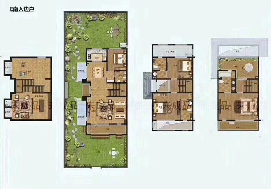 八达岭孔雀城,别墅,山地联排,送地下室、花园、车库