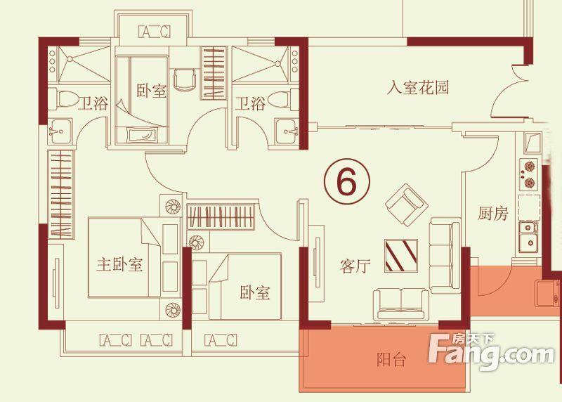 中恒海晖城3室65万元绝对好位置!绝对好房子!