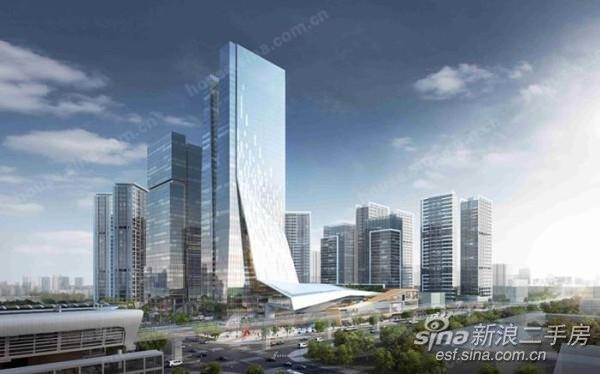 越秀国际总部广场 地铁100米 配套成熟 5米复式3房 可明火 有阳台