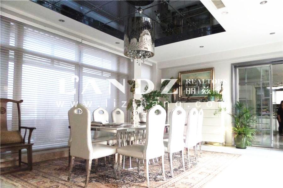 中国院子中式独栋!2套打通、水系亭台、六居室、自住装修!