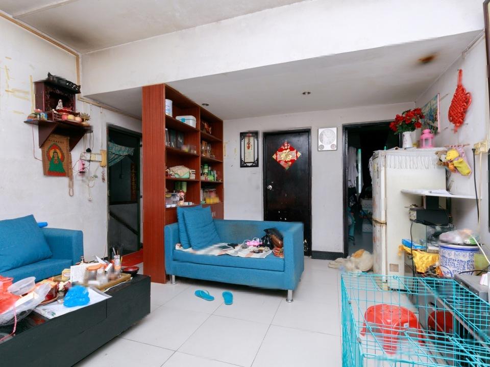棠德花园 实用正规 温馨两房一厅 南北对流 厅出阳台