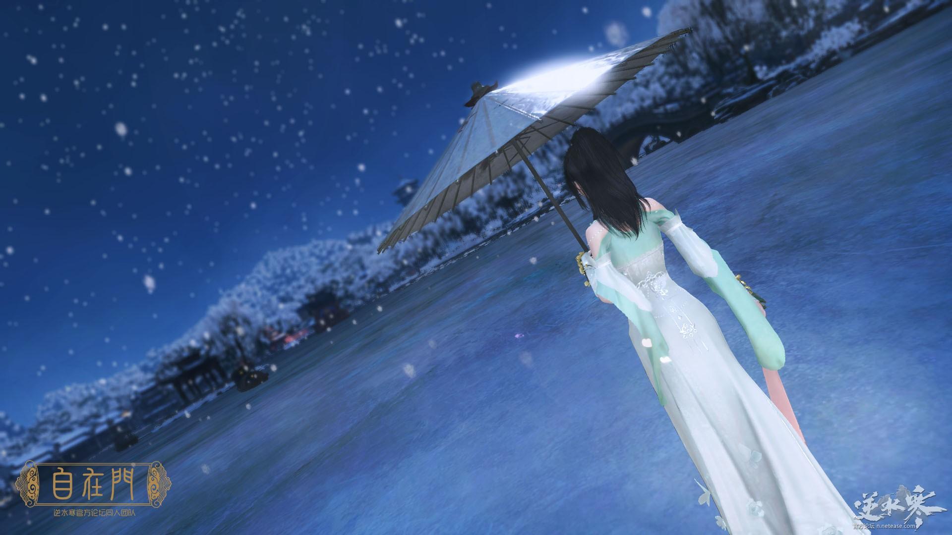【自在门】去年相送,余杭门外,飞雪似杨花——素问主题壁纸