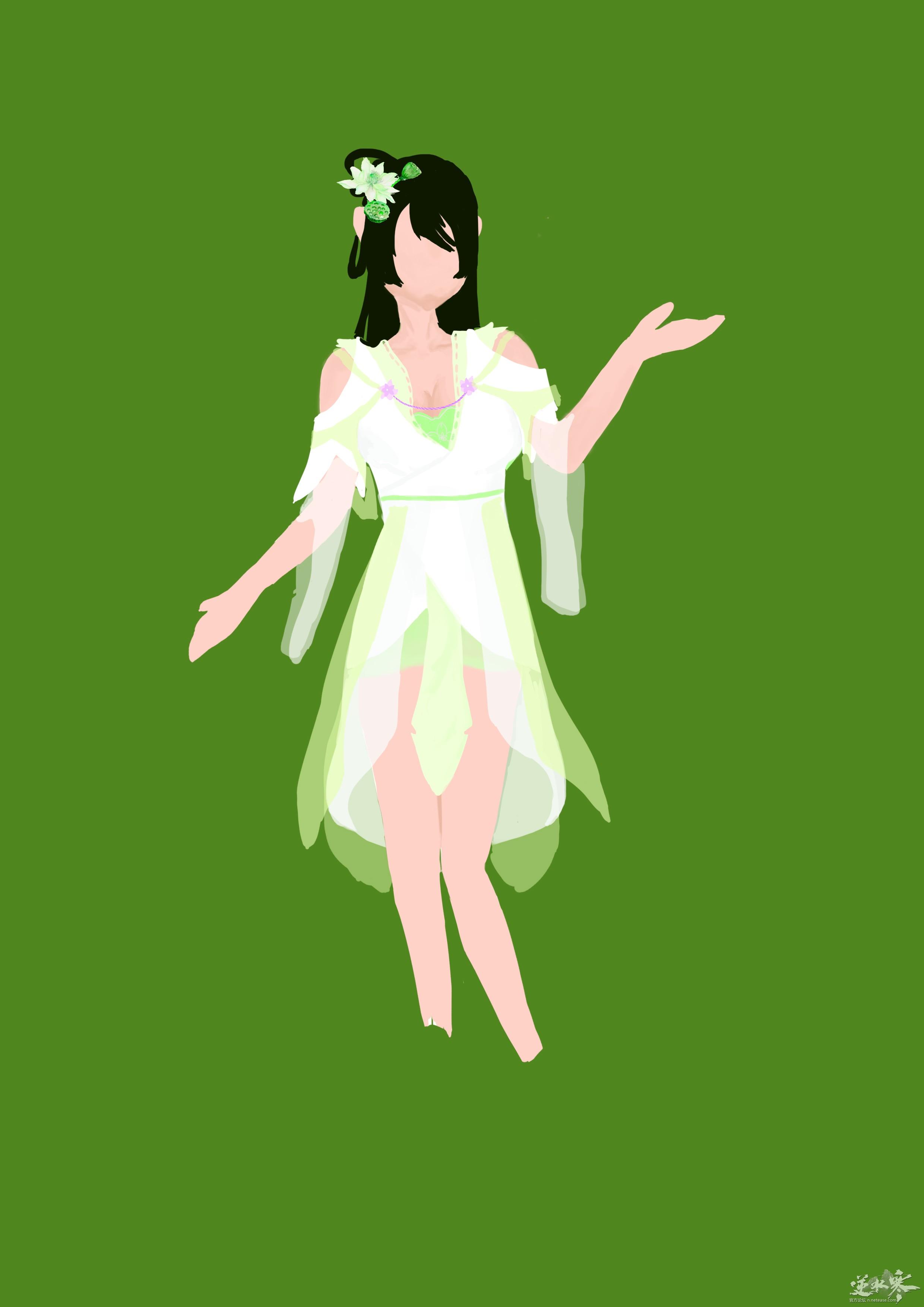 (大宋染织坊)一个很仙的女性时装的草稿0.0
