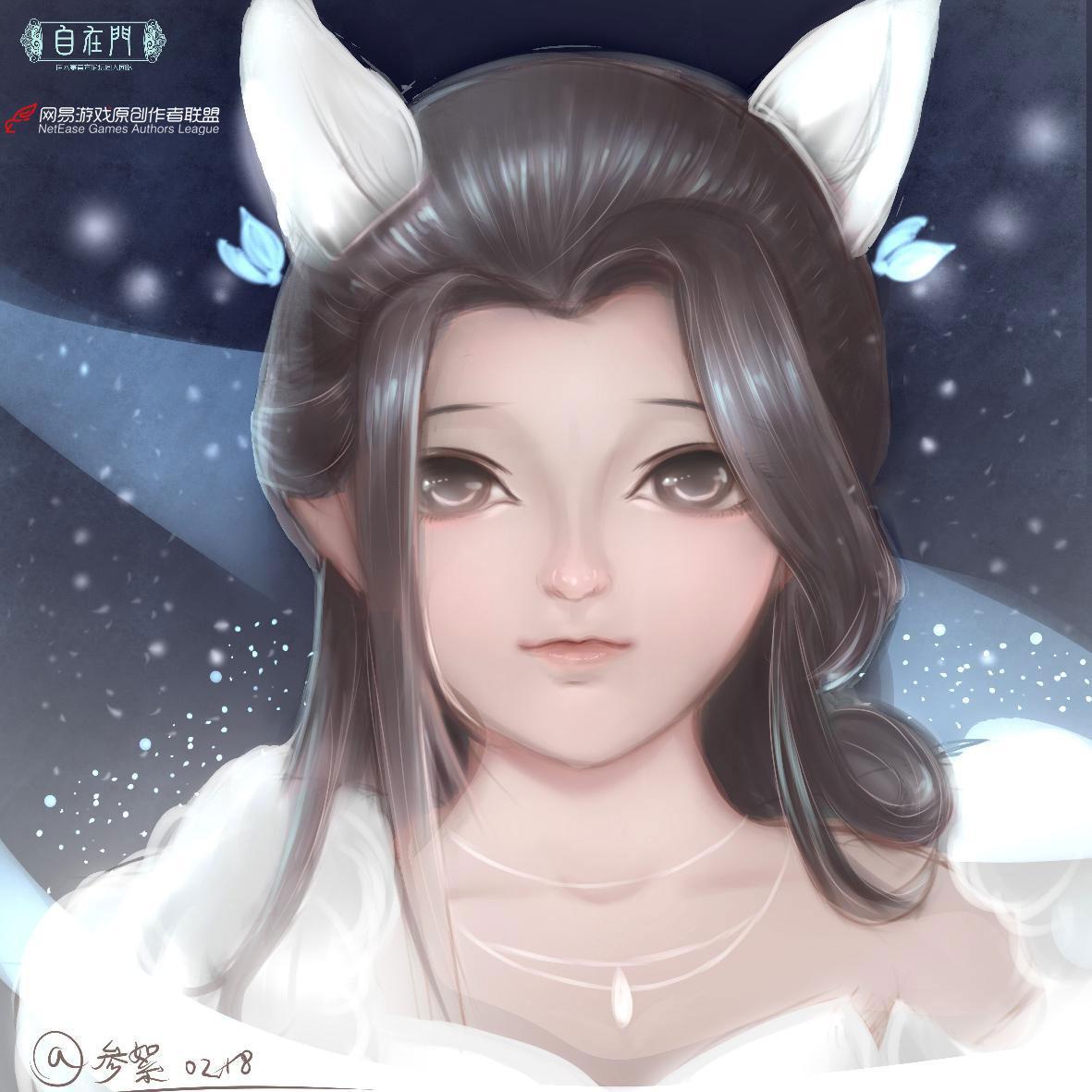 一只狐仙小萝莉,可爱如你。【自在门】【手绘】